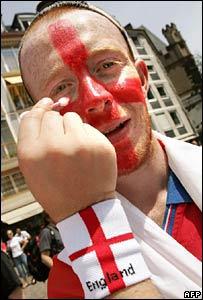 England fan in Frankfurt