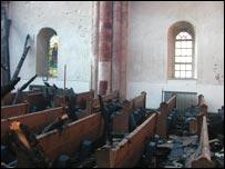 Fire damaged church