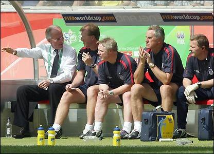 Sven-Goran Eriksson y Steve McClaren.
