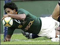 Breyton Paulse scores South Africa's second try