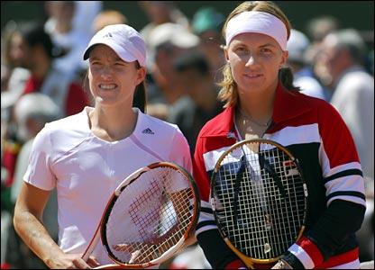 Justine Henin-Hardenne and Svetlana Kuznetsova