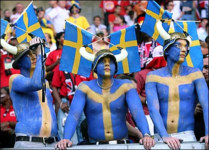 Aficionados suecos.