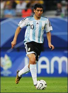 Argentina's Juan Riquelme