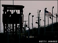 A watchtower at the US base in Guantanamo Bay, Cuba