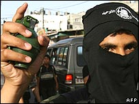 A Tawheed Brigades militant, an offshoot of Fatah