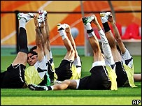 Iranian football team training
