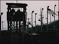 A watchtower at the US base in Guantanamo Bay, Cuba