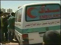 Ambulance in Gaza Strip