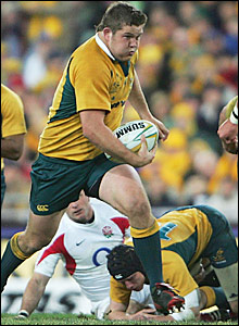 Greg Holmes makes a break for Australia