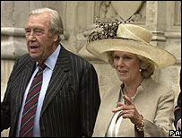 Maj Bruce Shand and his daughter, the Duchess of Cornwall