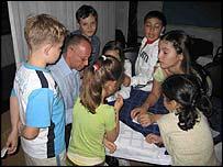 Children with Steve Rosenberg