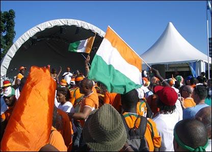 Ivory Coast fans