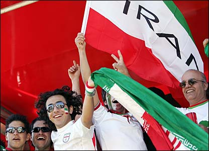 Iran fans look forward to their game against Mexico