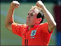 Dutch goalscorer Arjen Robben