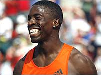 Dwain Chambers is happy after his Gateshead win 