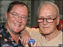 John Lasseter and Paul Newman