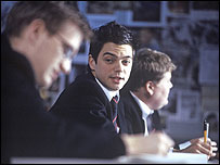 Jamie Parker (Scripps), Dominic Cooper (Dakin) and James Corden (Timms) Photo credit: Ivan Kyncl