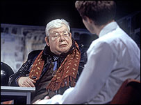 Richard Griffiths and Samuel Barnett as Hector and Posner. Photo credit: Ivan Kyncl
