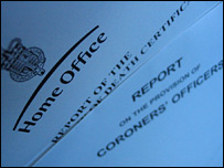 Home Office report into coroners' courts
