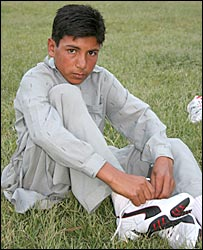 Adnan Nazir wearing his new trainers