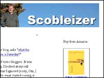 Screengrab of Robert Scoble's blog, Robert Scoble
