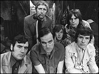 The Monty Python team, 1970