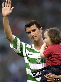 Roy Keane waves goodbye at his testimonial
