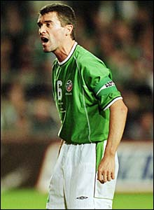 Roy Keane in action for ROI