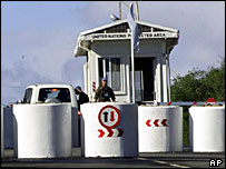 UN checkpoint in Nicosia