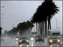 Rain on Miami Beach on Sunday