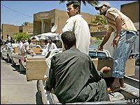 Funeral procession in Baquba