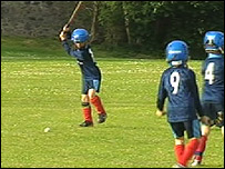 Shinty was introduced to Aberdour Primary School five years ago