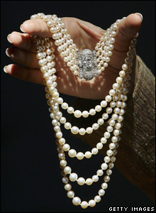 Pearl and diamond Art Deco necklace
