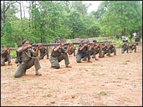 Women Maoist fighters in training