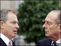 Tony Blair y Jacques Chirac
