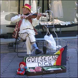 M�sico callejero en Nuremberg