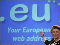 Launch of .eu domain, AFP/Getty
