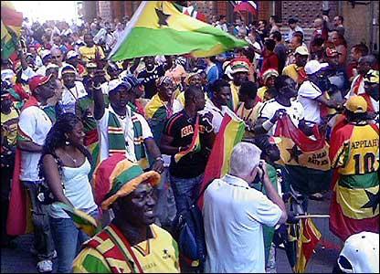 Ghana fans in Italy