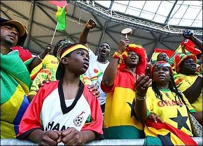 Ghana fans in Hanover