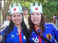 Japanese fans Koizumi and Naoko