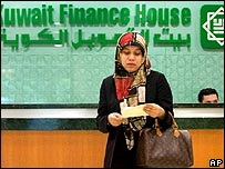 Bank customer in Kuwait