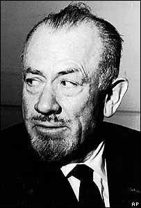 US author John Steinbeck