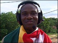 Togo supporter Erick Kaglan