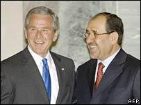 US President George W Bush and Iraqi Prime Minister Nouri Maliki