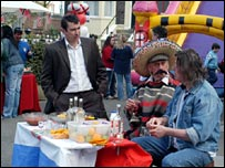 A World Cup party is held in Albert Square in EastEnders