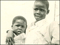 Milton (left) and his brother Modise