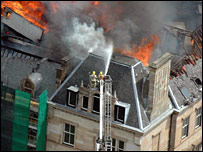Park Circus fire, picture from Strathclyde Police