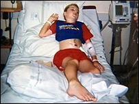 Garyn Price in hospital