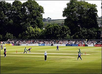 The Civil Service North of Ireland Cricket Club in Stormont, Belfast, Northern Ireland