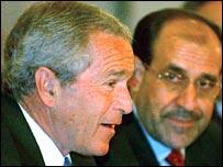 نوري المالكي وجورج بوش